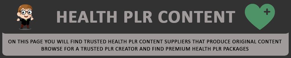 Health PLR Content