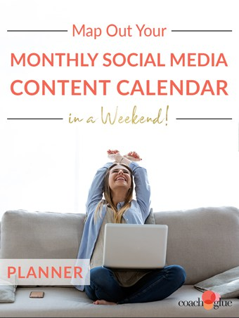 Map Out Your Monthly Social Media Content Calendar in a Weekend PLR Planner
