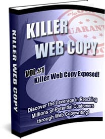 Killer Web Copy eBooks Series For Sale with Master Resell Rights