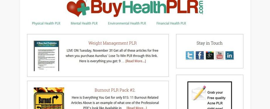 Buy High Quality Health PLR Content
