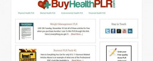 Buy Health PLR