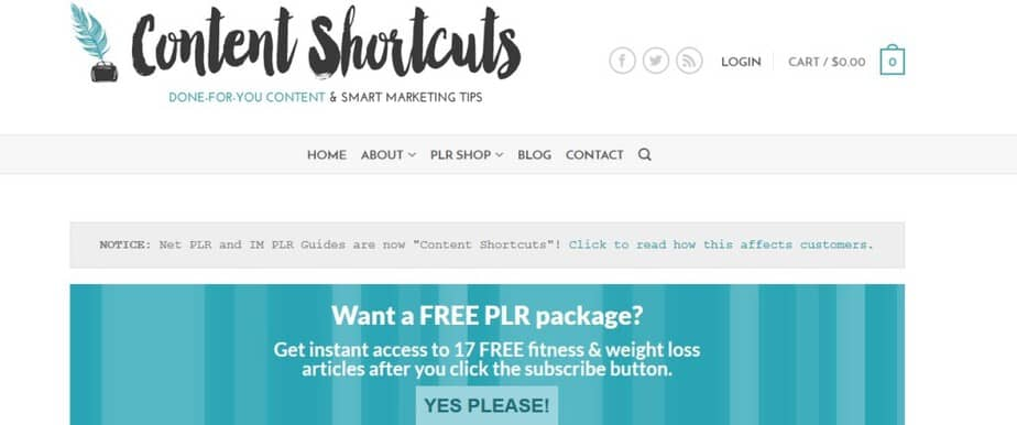 high quality PLR content store