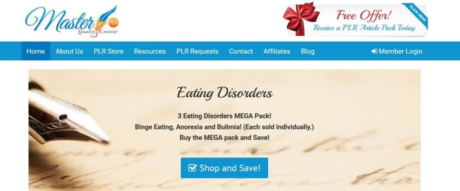 High quality health PLR packages