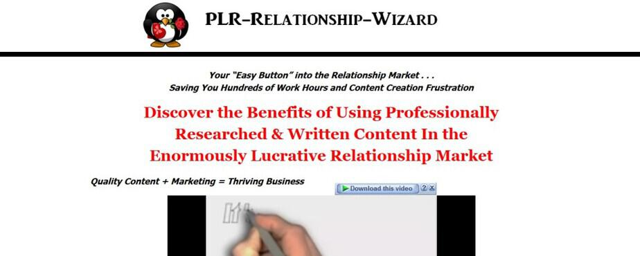PLR Relationship Wizard - Quality Relationship PLR Content