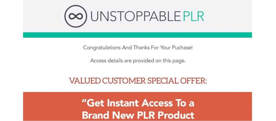 Unstoppable PLR - Monthly PLR Products