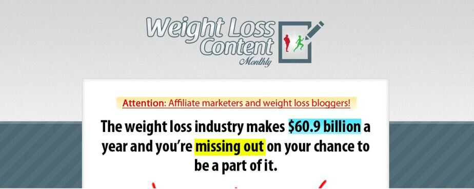 Weight Loss Content Monthly PLR - Weight Loss PLR Membership