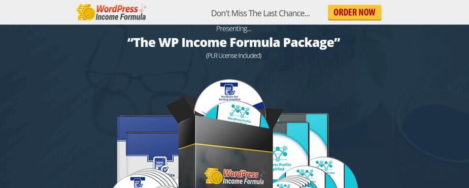 WordPress Income Formula - WordPress PLR Package