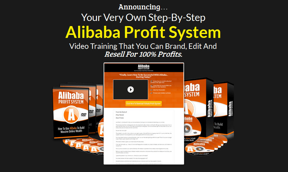 Alibaba Profit System PLR Business In A Box Package
