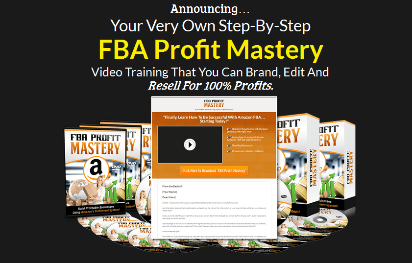 Amazon FBA Profit Mastery PLR Business In A Box Package