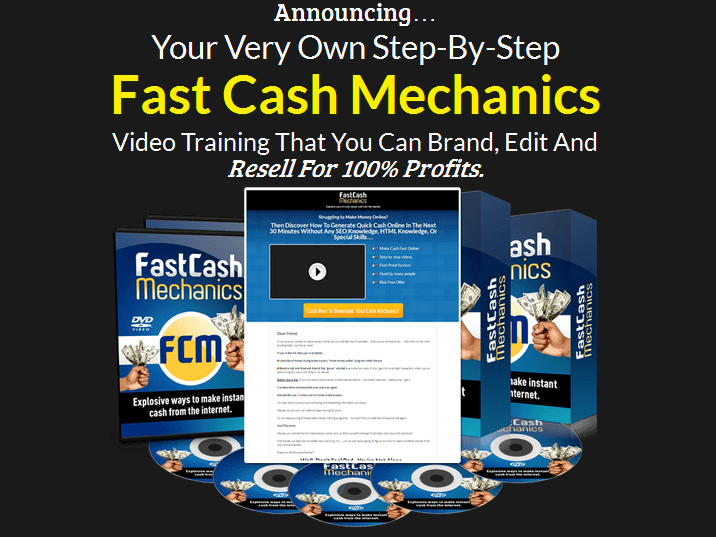 Fast Cash Mechanics PLR Business In A Box Package