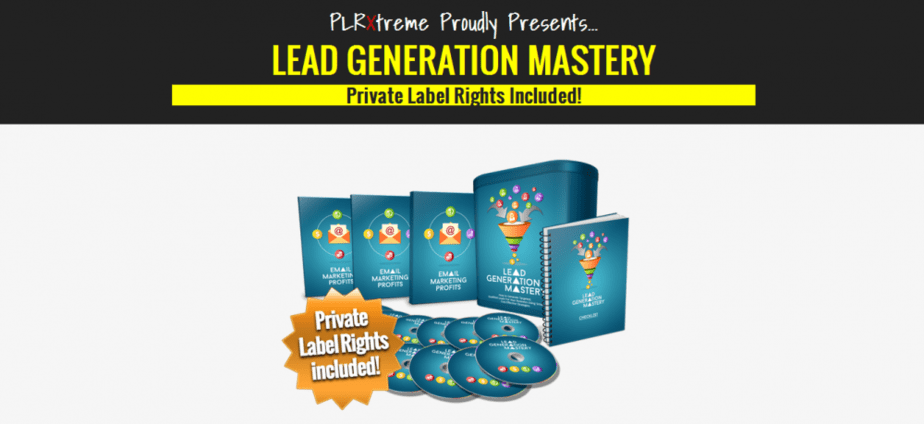 Lead Generation Mastery PLR Business in a Box Package