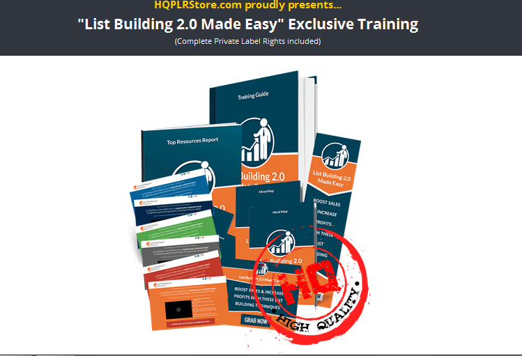 List Building 2.0 PLR Business In A Box