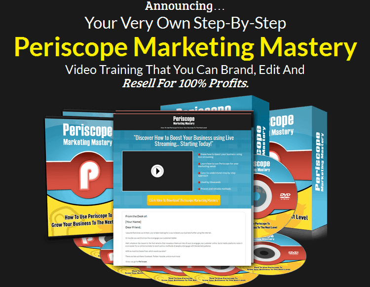 Periscope Marketing Mastery PLR Business In A Box Package