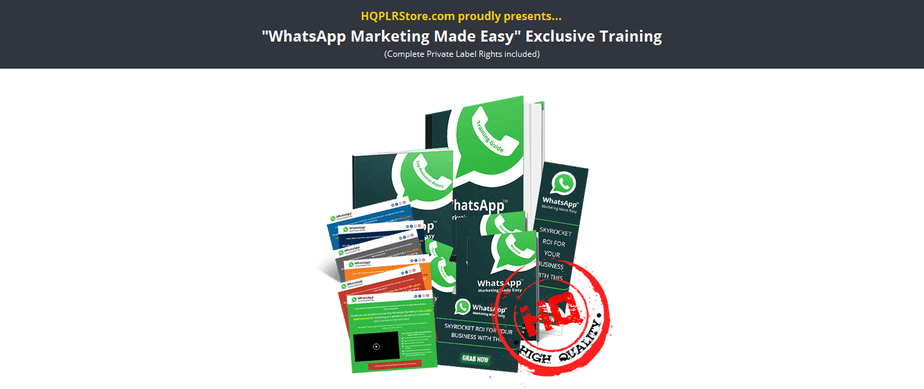 Whatsapp Marketing PLR Business in a Box Package