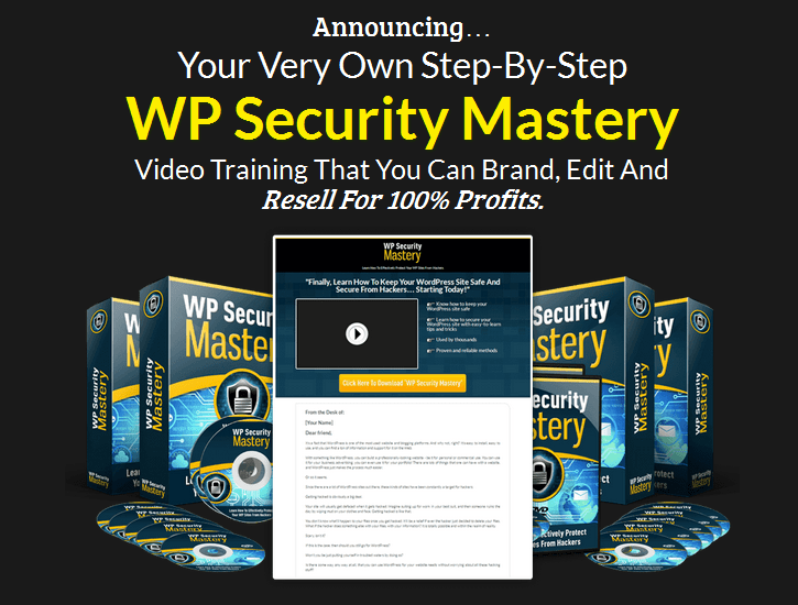 WordPress Security Mastery PLR Business In A Box Package