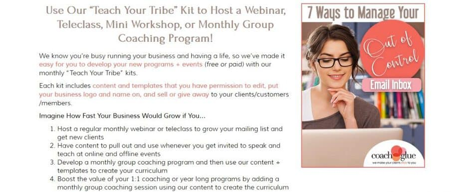 Teach Your Tribe Monthly Program