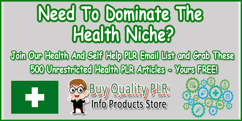 Free Unrestricted Health PLR Packs