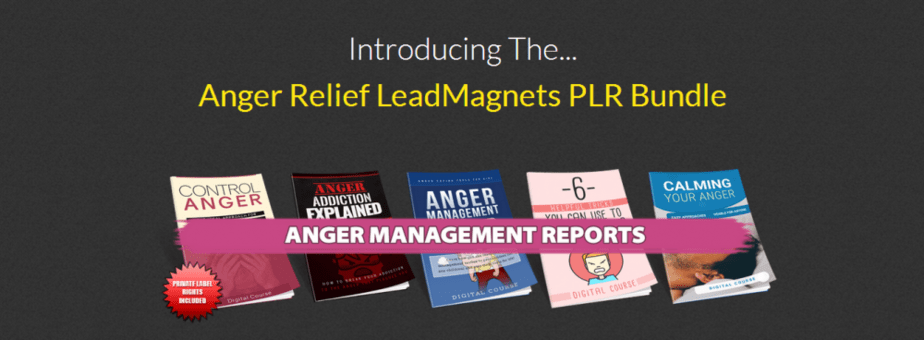 Best self help plr packages recommended self help plr bundles 5 anger management lead magnets plr reports fandeluxe Images