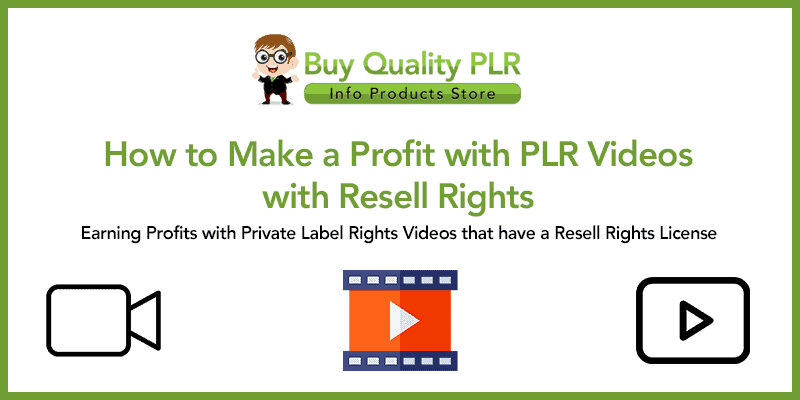 How to Make a Profit with PLR Videos