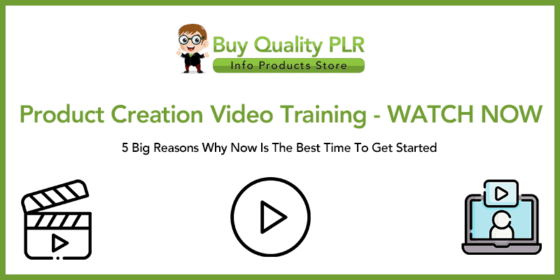 Product Creation Video Training WATCH NOW
