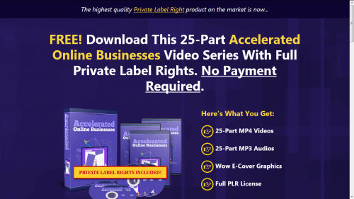 Accelerated Online Businesses Free PLR Videos