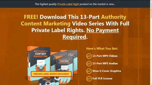 Authority Content Marketing Free PLR Videos