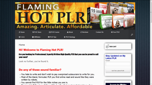 Flaming Hot PLR