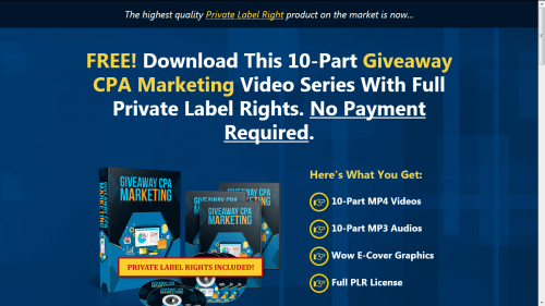 Giveaway CPA Marketing Free PLR Videos
