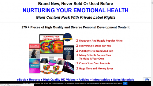 Nurturing Your Emotional Health PLR Pack
