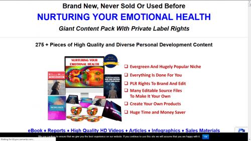 Nurturing Your Emotional Health PLR Pack