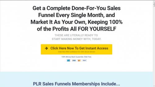 PLR Sales Funnels
