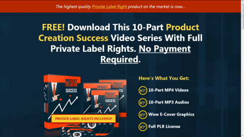 Product Creation Success Free PLR Videos