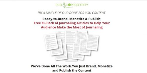 Free Pack of 10 Quality Journaling PLR Articles