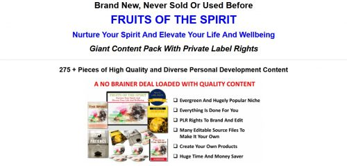 Nurture Your Spirit And Elevate Your Life And Your Wellbeing 275+ Piece PLR Pack