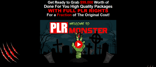 PLR Monster 99 PLR Packages 99k Value