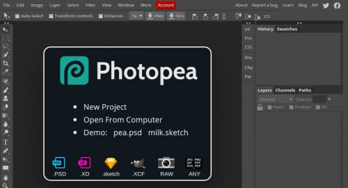 Photopea Free Online PSD File Editor Photoshop Alternative
