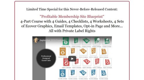Profitable Membership Site Blueprint PLR Course
