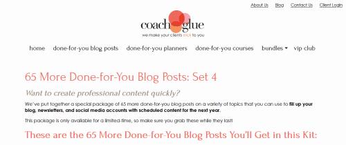 65 More Done-for-You Blog Posts Version 4