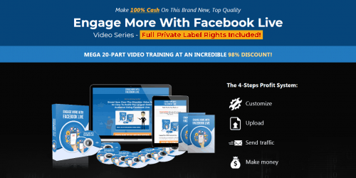 Engage More With Facebook Live PLR Video Course