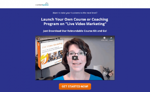 Live Video Marketing PLR Coaching Course