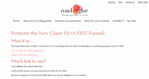 New Client Kit – 17 Forms to Start or Streamline Your Coaching Business