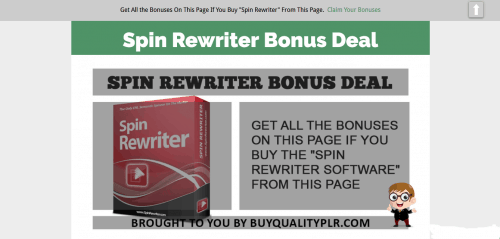Spin Rewriter – Best PLR Article Spinner