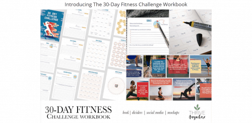 30-Day Fitness Challenge PLR Workbook