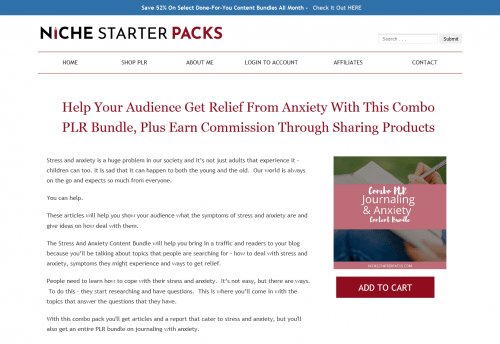 DFY PLR Journaling and Anxiety Combo PLR Bundle