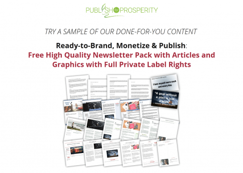 Free Personal Development PLR Newsletter Pack