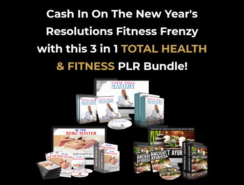 Health and Fitness PLR Bundle – 3 Health PLR Sales Funnels