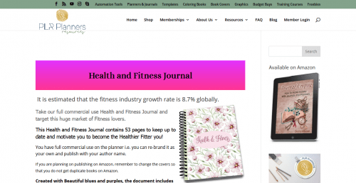 Health and Fitness PLR Journal