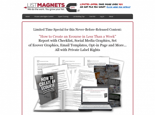 How to Create an Ecourse in Less Than a Week PLR Bundle
