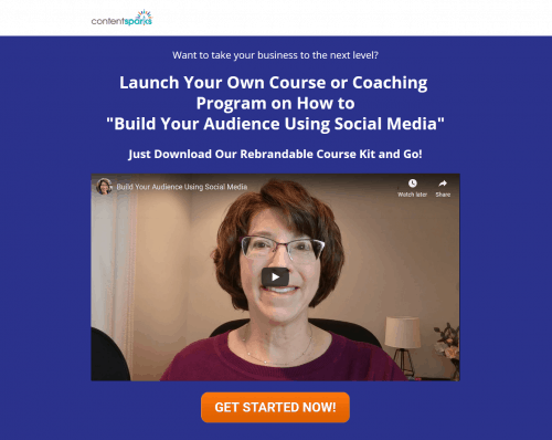 Premium Business PLR Coaching Program – Build Your Audience Using Social Media