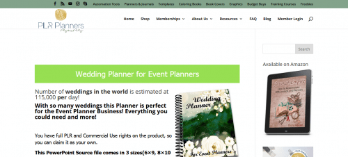 Wedding Event PLR Planner